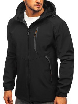 Bolf Herren Softshell Jacke Schwarz-Orange  12266