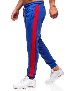 Bolf Herren Sporthose Blau-Rot JZ11005