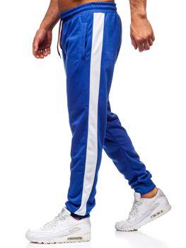 Bolf Herren Sporthose Blau-Weiß JZ11005