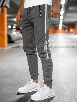 Bolf Herren Sporthose Grau  JX9511