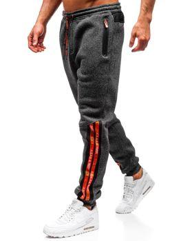 Bolf Herren Sporthose Schwarz-Orange  Q3869