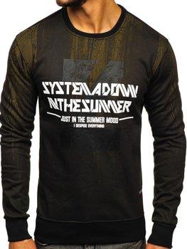 Bolf Herren Sweatshirt mit Motiv Grün  DD688
