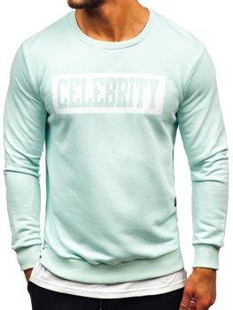 Bolf Herren Sweatshirt mit Motiv Mintgrün  11115