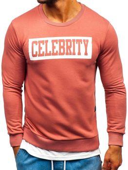 Bolf Herren Sweatshirt mit Motiv Rosa  11115