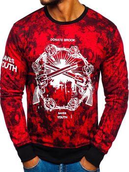 Bolf Herren Sweatshirt mit Motiv Rot  DD670