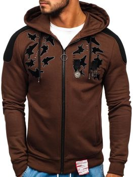 Bolf Herren Sweatshirt mit Reißverschluss Braun  GK32