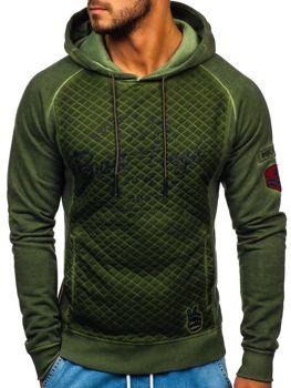 Bolf Herren Sweatshirt mit Reißverschluss Grün  GK42