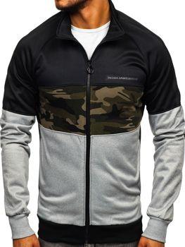 Bolf Herren Sweatshirt mit Reißverschluss Schwarz  88015