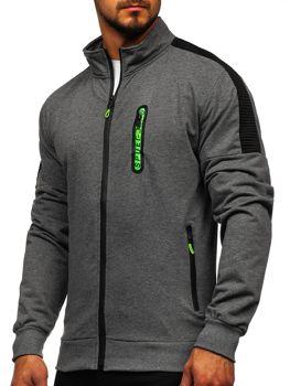 Bolf Herren Sweatshirt mit Reißverschluss Schwarzgrau  JX9827