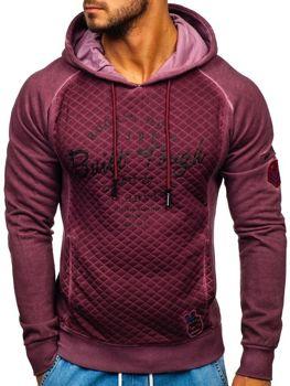 Bolf Herren Sweatshirt mit Reißverschluss Weinrot  GK42