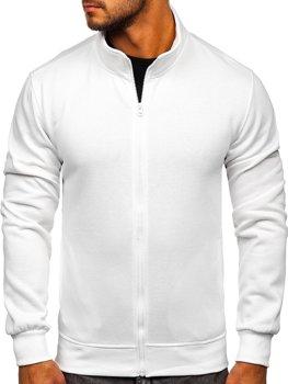 Bolf Herren Sweatshirt mit Reißverschluss Weiß  B2002