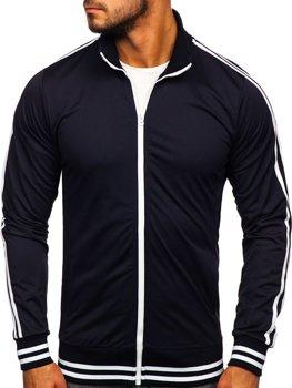 Bolf Herren Sweatshirt mit Reißverschluss retro style Dunkelblau  11113