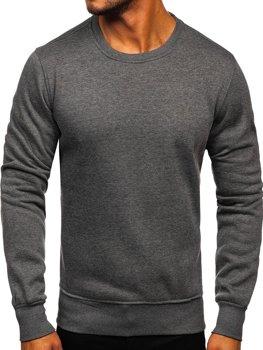 Bolf Herren Sweatshirt ohne Kapuze Anthrazit  BO-01