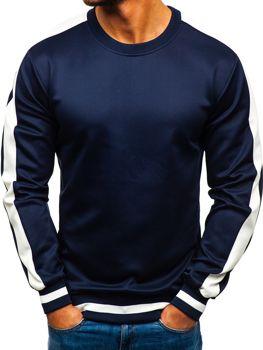 Bolf Herren Sweatshirt ohne Kapuze Dunkelblau  99009