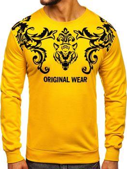 Bolf Herren Sweatshirt ohne Kapuze Gelb  HY697