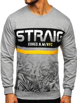 Bolf Herren Sweatshirt ohne Kapuze Grau  HY696