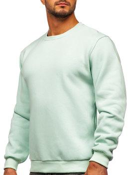 Bolf Herren Sweatshirt ohne Kapuze Hell Mintgrün  2001