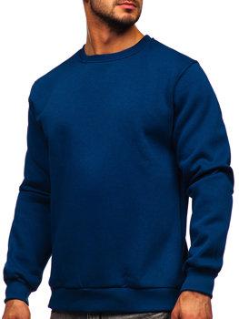 Bolf Herren Sweatshirt ohne Kapuze Indigo  2001
