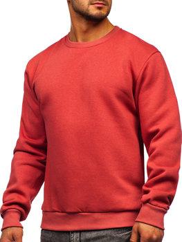 Bolf Herren Sweatshirt ohne Kapuze Lachsrot  2001