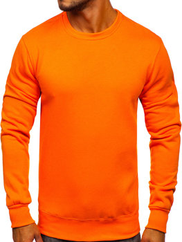 Bolf Herren Sweatshirt ohne Kapuze Orange  2001