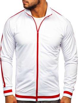 Bolf Herren Sweatshirt ohne Kapuze Retro Style Weiß 2126