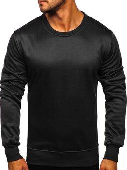 Bolf Herren Sweatshirt ohne Kapuze Schwarz  2001-2