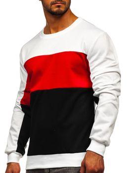 Bolf Herren Sweatshirt ohne Kapuze Weiß  JZ11052