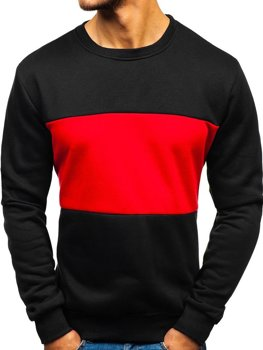 Bolf Herren Sweatshirt ohne Kapuze ohne Motiv Schwarz  TX23