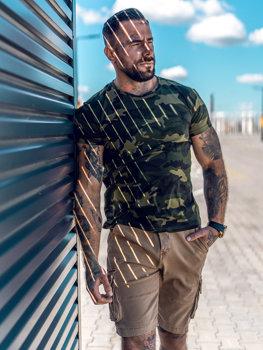 Bolf Herren T-Shirt Camo Khaki  S807