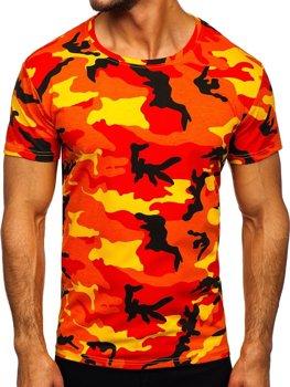 Bolf Herren T-Shirt Camo Orange  S807