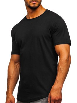 Bolf Herren T-Shirt Lang Schwarz  14290