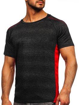 Bolf Herren T-Shirt Sportshirt Schwarz  HM074