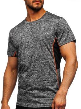 Bolf Herren T-Shirt Sportshirt Schwarzgrau  HM073
