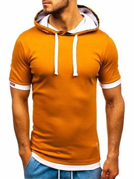Bolf Herren T-Shirt mit Kapuze Camel  08-1