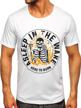 Bolf Herren T-Shirt mit Moiv Weiß  KS2631
