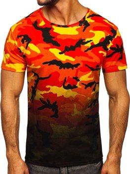 Bolf Herren T-Shirt mit Motiv Camo Orange  S808