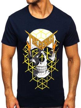 Bolf Herren T-Shirt mit Motiv Dunkelblau Y70002