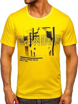 Bolf Herren T-Shirt mit Motiv Gelb  KS2651