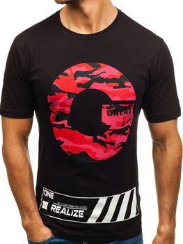 Bolf Herren T-Shirt mit Motiv Schwarz  6299