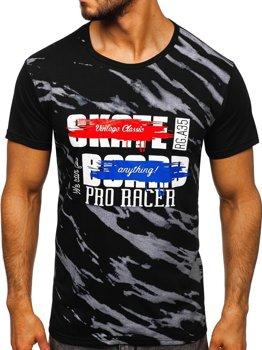Bolf Herren T-Shirt mit Motiv Schwarz  KS1951