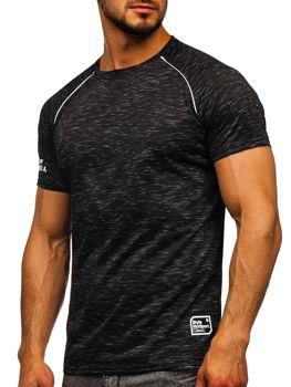Bolf Herren T-Shirt mit Motiv Schwarz  SS11125