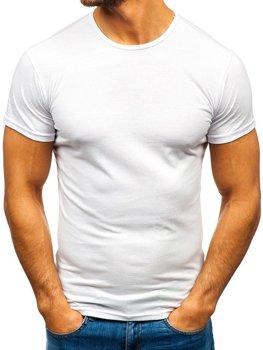 Bolf Herren T-Shirt mit Motiv Weiß  0001