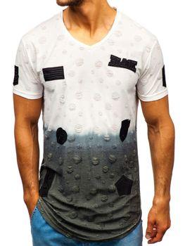 Bolf Herren T-Shirt mit Motiv Weiß  318