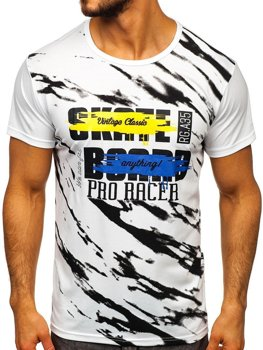 Bolf Herren T-Shirt mit Motiv Weiß  KS1951