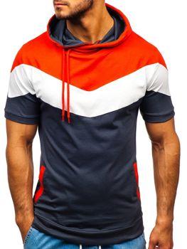 Bolf Herren T-Shirt mit Motiv und Kapuze Schwarzgrau 9026
