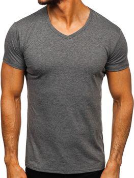 Bolf Herren T-Shirt mit V-Ausschnitt Anthrazit  2007