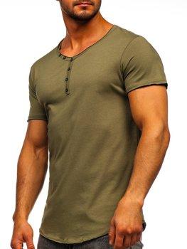 Bolf Herren T-Shirt mit V-Ausschnitt Khaki 4049