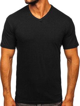 Bolf Herren T-Shirt mit V-Ausschnitt Schwarz  192131