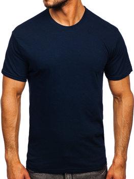 Bolf Herren T-Shirt ohne Motiv Dunkelblau  192397