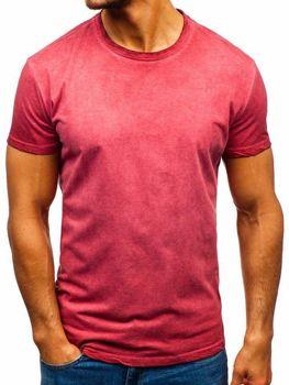 Bolf Herren T-Shirt ohne Motiv Rosa  100728